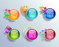 Sale tags sale banners set shopping Stock Photography