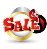Sale tags. Sale banners. Stock Image