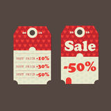 Sale Tags with sale messages Stock Images