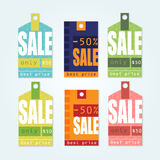 Sale Tags with sale messages Royalty Free Stock Photography