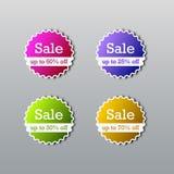 Sale tags. Sale template. Vector illustration of sale banner, sticker, label stock illustration