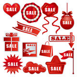 Sale tags set royalty free stock images