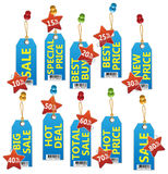 Sale tags set Royalty Free Stock Photo