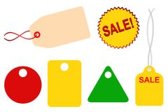 For Sale Tags Set Royalty Free Stock Image