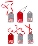 Sale tags. Set of color gift tags isolated on white background. Royalty Free Stock Photo