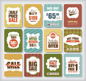 Sale Tags. Set of sale/discount design elements Stock Images