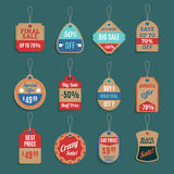 Sale Tags Set Royalty Free Stock Photography