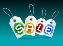 Sale Tags Set - Vector Labels Stock Photo