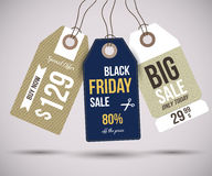 Sale Tags. For special offers and black friday Stock Photo