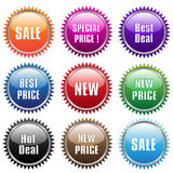 Sale tags & stickers Royalty Free Stock Image