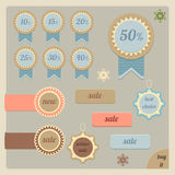 Sale tags and stickers Royalty Free Stock Photo