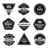 Sale tags and stickers set Royalty Free Stock Images