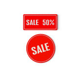 Sale tags. Sale Tag on white background Stock Photo