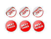 Sale tags. Sale Tag on white background Stock Photos