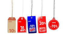 Sale tags. Sale Tag on white background Stock Image