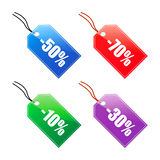 Sale tags (vector) Stock Photography