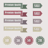 SALE Tags. Vector SALE Tags eps without transparency red Royalty Free Stock Images