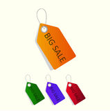 Sale tags. Vector Royalty Free Stock Images