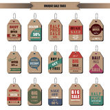 Sale tags. A vector illustration of sale tags design Stock Photos