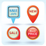 Sale Tags, Vector Illustration. Royalty Free Stock Photography