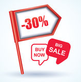 Sale Tags, Vector Illustration. Royalty Free Stock Photo