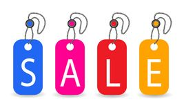 Sale Tags, vector Stock Photo