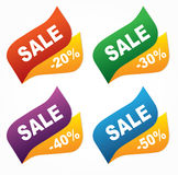 Sale tags. On a white background Stock Image