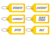 Sale Tags 2 Yellow Royalty Free Stock Images