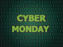 Cyber Monday Sale. Sale technology background for cyber monday with computer code Royalty Free Stock Photos