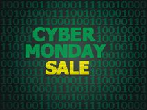 Cyber Monday Sale. Sale technology background for cyber monday with computer code Stock Images