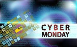 Sale teknologibaner för den cybermåndag händelsen Vektorkonst för din försäljningsbefordran Tangentbord för att skriva in i enmar arkivbilder
