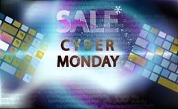 Sale teknologibaner för den cybermåndag händelsen Vektorkonst för din försäljningsbefordran Tangentbord för att skriva in i enmar royaltyfri fotografi