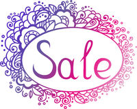 Sale template. With floral ellements Stock Photo
