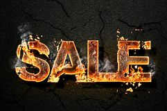 Sale text Stock Photography