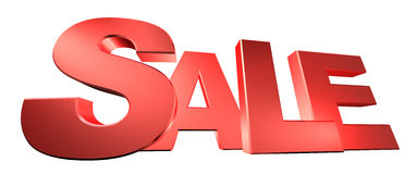 Sale text. With block letters. Clipping path included Royalty Free Stock Image