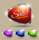 Sale text best price set Stock Photos