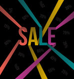 SALE text color ribbon style. Royalty Free Stock Images