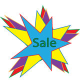 `Sale` text colorful sticker Stock Images