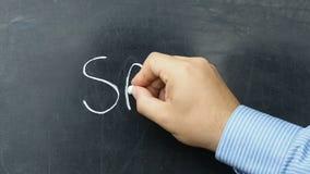 Sale text handwritten blackboard chalkboard stock video