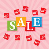 Sale Text Royalty Free Stock Photos