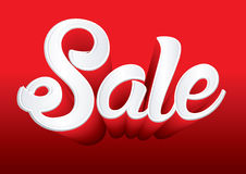 Sale text. On red background graphic vector Royalty Free Stock Photos