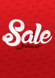 Sale text. On red background graphic vector Royalty Free Stock Image