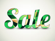 Sale text - shades of green Royalty Free Stock Images