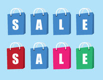 Sale Text Shopping Bags Royalty Free Stock Photo