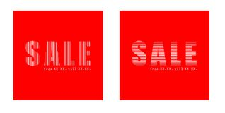 Sale text in squares Royalty Free Stock Photos
