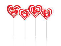 Sale text with sweet lollipops Stock Photography