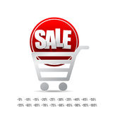 Sale text with tag banner on white background  007 Royalty Free Stock Images