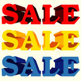 Sale text vector Stock Images