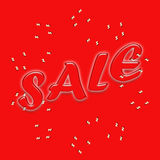 SALE. Text written  on red Stock Image