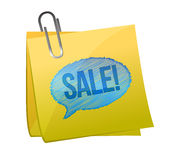 Sale text on yellow sticky paper Royalty Free Stock Photo